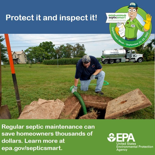 Regular septic maintenance