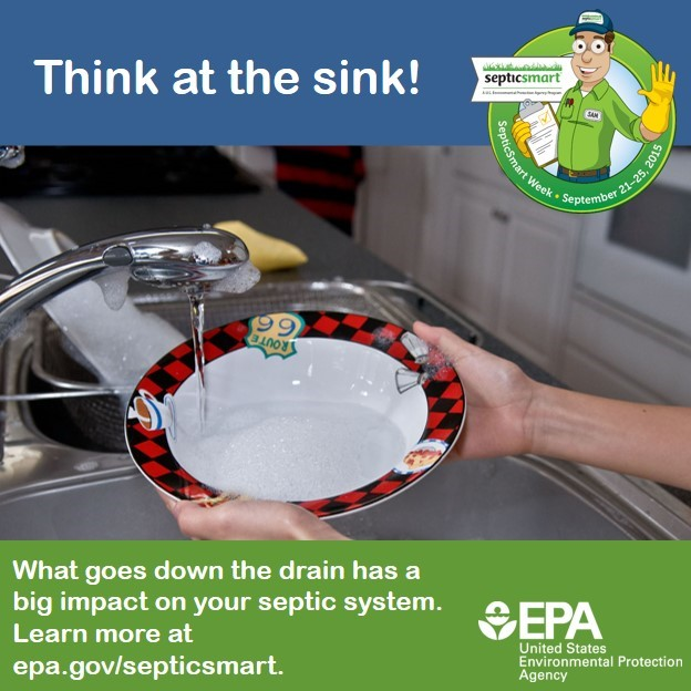 Drains lead to septic systems